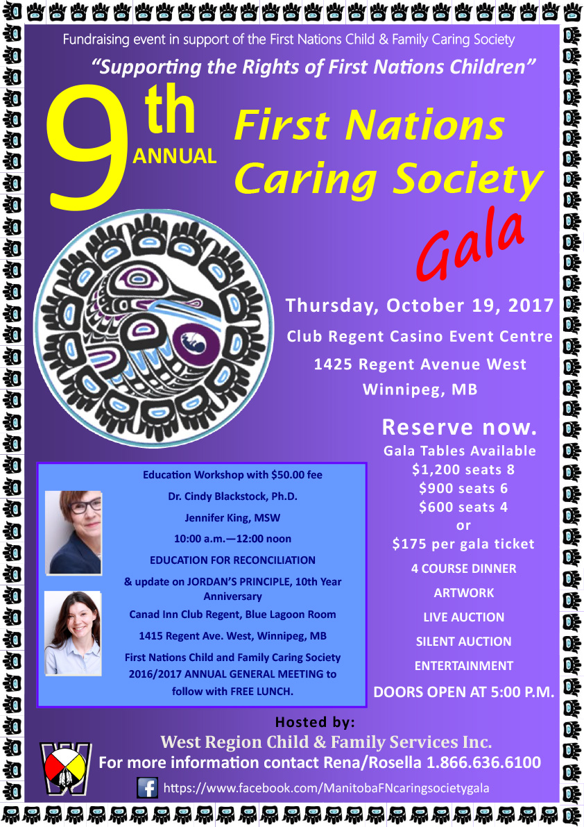 First Nations Caring Society Gala Poster
